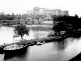 Dock on the River by the Art Museum, Philadelphia, Pennsylvania Photo