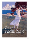 Golf Monte Carlo Poster
