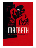 Macbeth: Wpa Federal Theater Negro Unit Poster von Anthony Velonis