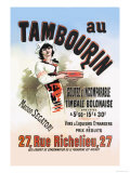 Au Tambourin Poster by Jules Chéret