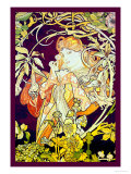 Ivy Print by Alphonse Mucha