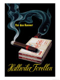 Hallwiler Forellen Cigars Art by Fritz Meyer Brunner