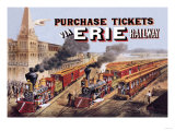 Purchase Tickets Via Erie Railway Poster
