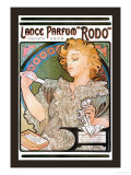 Rodo Perfume,Fragrance Prints by Alphonse Mucha