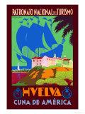 Huelva Posters by Romero Diaz Jara
