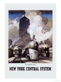 Sistema New York Central Stampa giclée premium di Leslie Ragan