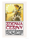 Zdenka Cerny: The Greatest Bohemian Violoncellist Prints by Alphonse Mucha