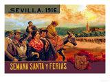 Sevilla Semania Santa y Ferias Prints by N.c. Chilberg