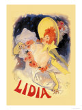Lidia Prints by Jules Chéret
