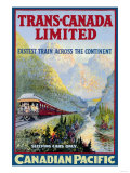 Trans-Canada Limited, Fastest Train Across the Continent Posters