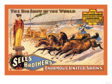Ben Hur Chariot Races: Sells Brothers' Enormous United Shows Plakaty
