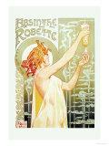 Absinthe Rebette Premium giclée print van Privat Livemont