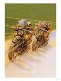 Moottoripyöräkilpailut Julisteet