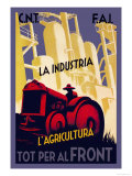 Industry and Agriculture for the Front Posters by Carles Fontsere