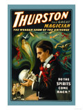 Thurston the Great Magician: Do the Spirits Come Back Premium Giclee Print