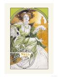 Noel 1903 Premium Giclee Print by Alphonse Mucha