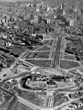 Aerial of the Art Museum Construction, Philadelphia, Pennsylvania Photo