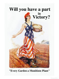 Will You Have a Part in Victory Premium Giclee Print by James Montgomery Flagg