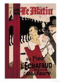 Le Matin au Pied de l'Echafaud Láminas por Henri de Toulouse-Lautrec
