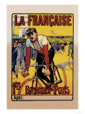 La Francaise: Bordeaux-Paris Bicycle Race Prints by  Marodon