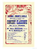 Concert at the Monte Carlo Casino Premium Giclee Print by Alphonse Mucha