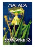 Malaga d'Semana Santa Prints by  Schneck
