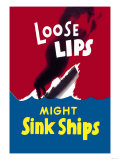 Loose Lips Might Sink Ships Posters