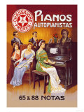Pianos Autopianistas with Beethoven Prints by A. Trub