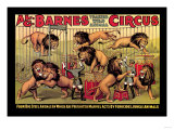 Al G. Barnes Trained Wild Animal Circus Poster