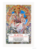 Slavia Insurance Company Prints by Alphonse Mucha
