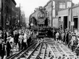 Baldwin Locomotive Down Vine Street, Philadelphia, Pennsylvania Photo
