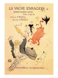 La Vache Enragee Posters by Henri de Toulouse-Lautrec
