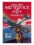 Join the Air Service and Serve in France Premium Giclee Print by Jozef Paul Verrees