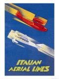 Italian Aerial Lines Prints by Umberto di Lazzaro