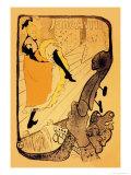 The Performance of Jane Avril Plakater av Henri de Toulouse-Lautrec