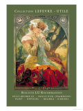 Biscuits Lu Recommandes Poster by Alphonse Mucha