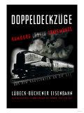 Doppeldeckzuge: Hamburg, Lubek, Travemunde Prints
