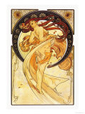 Dance Print by Alphonse Mucha