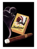Indiana Luxe Cigars Poster by  Ruegsegger