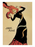 Jane Avril Posters by Henri de Toulouse-Lautrec