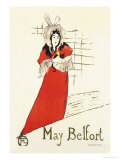 May Belfort Print by Henri de Toulouse-Lautrec
