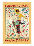 Paulette Duval and Vaceslv Svoboda Dance Poster by Georges Barbier