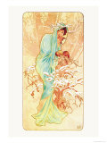 Winter Art by Alphonse Mucha