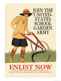 Join the United States School Garden Army Prints by Edward Penfield