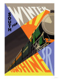 South for Winter Sunshine, Southern Railroad Print