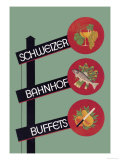 Schweizer Bahnhof Buffets Prints by Charles Kuhn
