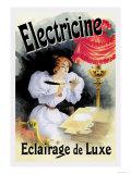 Electricine, Eclairage de Luxe Print by Jules Chéret