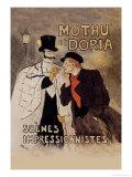 Mothu et Doria Prints by Théophile Alexandre Steinlen