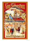 San Sebastian Grandes Coridas Art by Dan Sagre Groesbeck