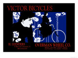 Victor Bicycles: Overman Wheel Company Posters by William H. Bradley